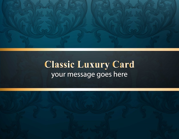 Classic luxury card with luxurious ornament vector. abstract design illustration. place for texts