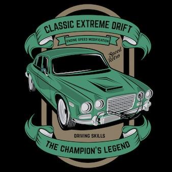 Classic luxury, classic car vector illustration