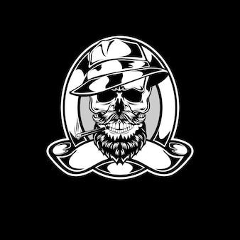 Classic mafia skull