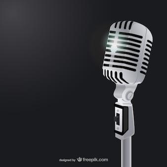 Classic microphone illustration vector Premium Vector