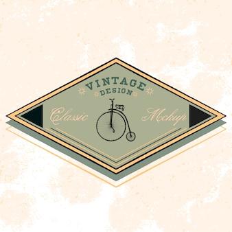 Classic mockup logo design vector