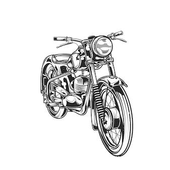 Classic motorcycle illustration