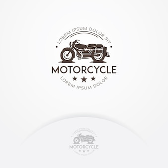 Classic motorcycle logo design