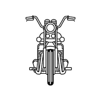 클래식 오토바이 개요 벡터
