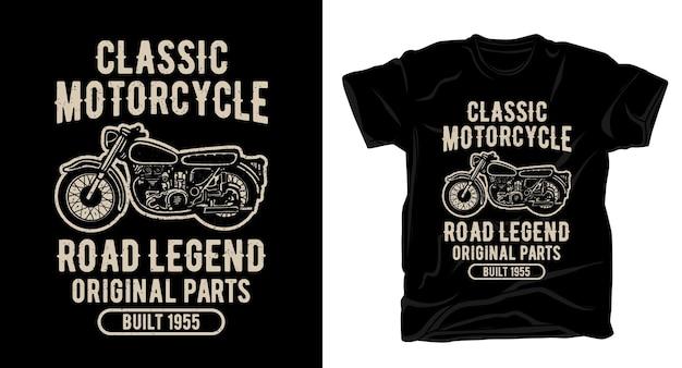 古典的なオートバイのタイポグラフィtシャツのデザイン