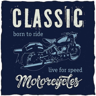 Плакат классических мотоциклов