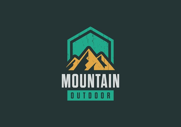 Classic mountain logo adventure, outdoor