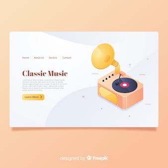 Classic music landing page