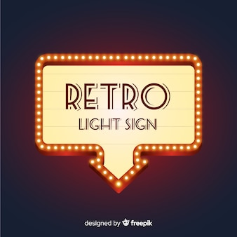 Classic neon sign with retro style