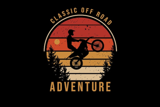 Classic off road adventure color orange and yellow