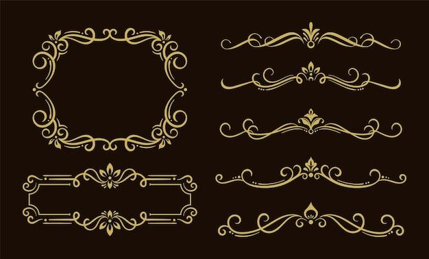 古典的な飾りフレーム要素