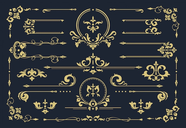 Классическая рамка-орнамент, винтажная рамка