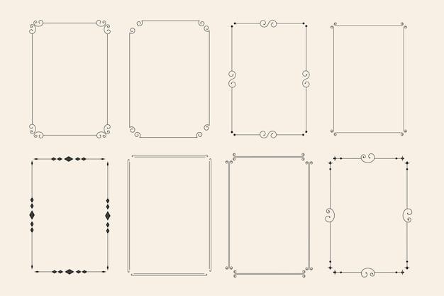 Классические декоративные декоративные рамки набор из восьми