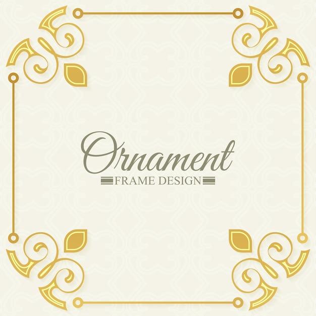 Classic ornamental decorative frames