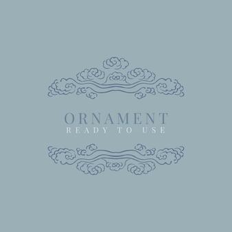 Classic ornamental frame