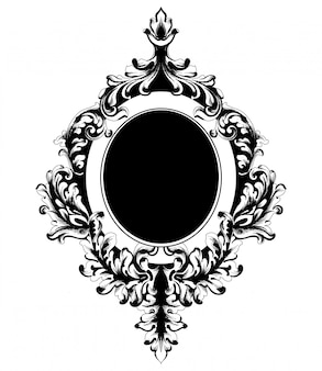 Classic ornamented frame
