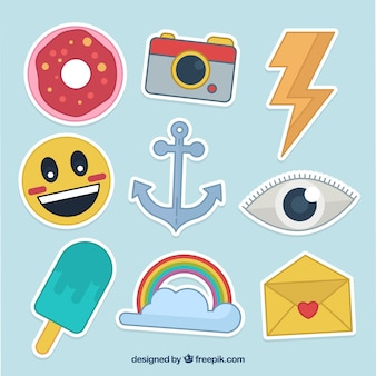 Classic pack of colorful stickers