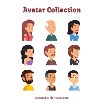 Classic pack of smiley avatars