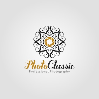 Classic photography logo template
