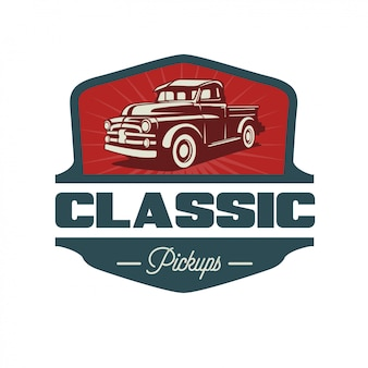 Classic pickup reto style and vintage logo design