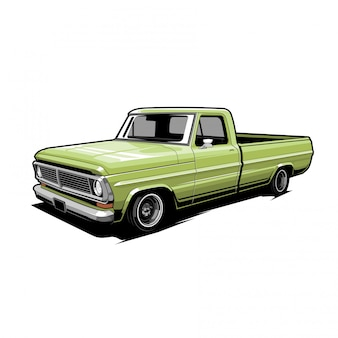Classic pickup vector illustration