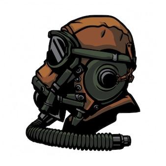Classic pilot vector