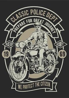 Classic police biker poster