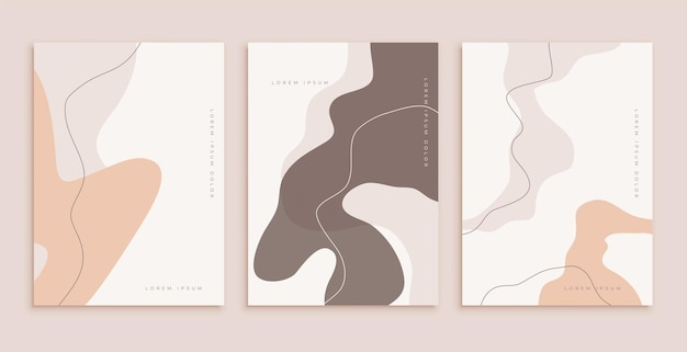 Классический шаблон плаката в линейных и плавных стилях публикации