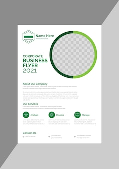 Classic promotional business flyer design template