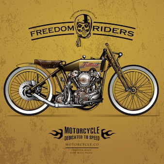 Classic Race Motorcycle Poster