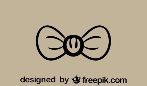 Classica icona papillon retrò