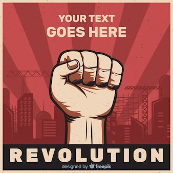 Classic revolution composition with flat design