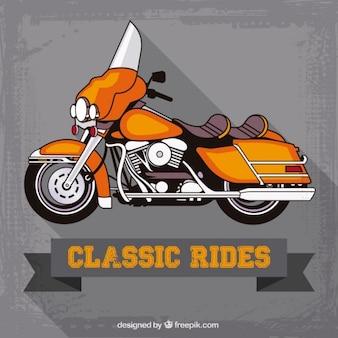 Классические гонщики плакат Premium векторы