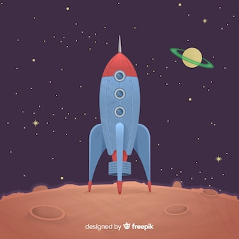 Classic rocket with vintage style