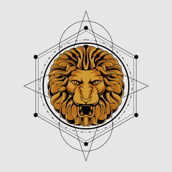 Classic sacred geometry lion