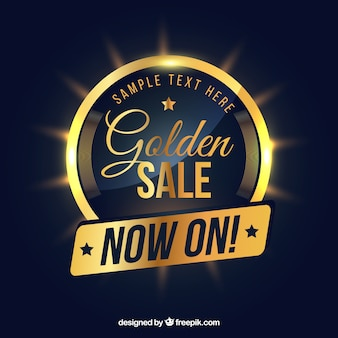 Classic sale composition with golden style