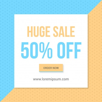 Classic sale offer banner with creative background