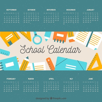 Calendario scolastico classico con stile bello