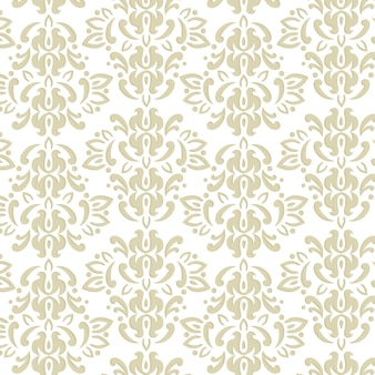 Classic seamless damask pattern in neutral colors