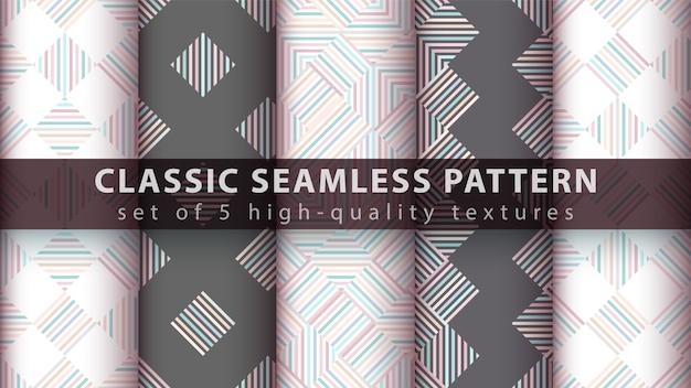 Classic seamless line pattern