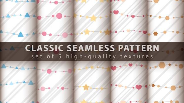 Classic seamless pattern set