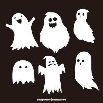 Classic set of halloween ghosts