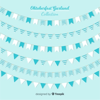 Classic set of oktoberfest garlands