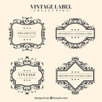 Classic set of vintage wedding badges