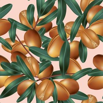 Классические орехи масла ши бесшовные модели