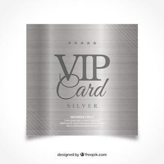 Классическая серебряная визитная карточка