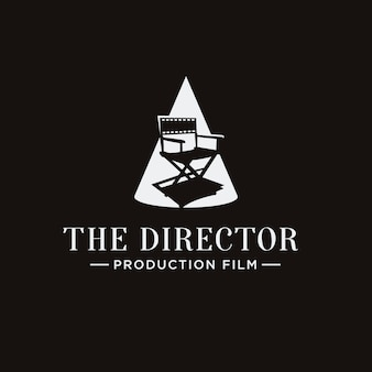 Classic spotlight chair film director logo