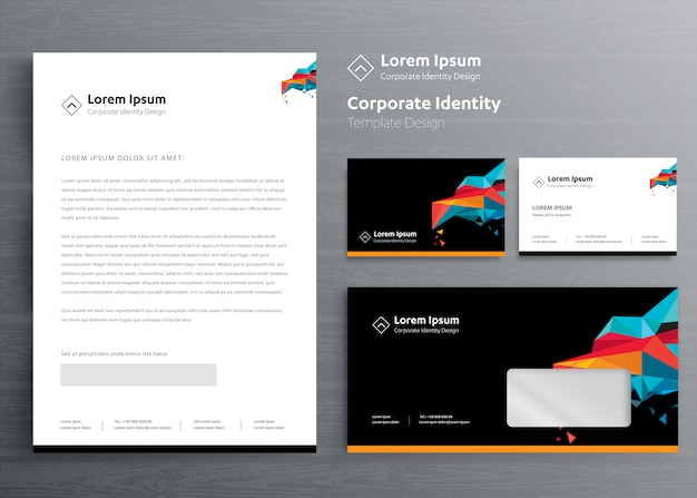 Classic stationery business corporate identity template design