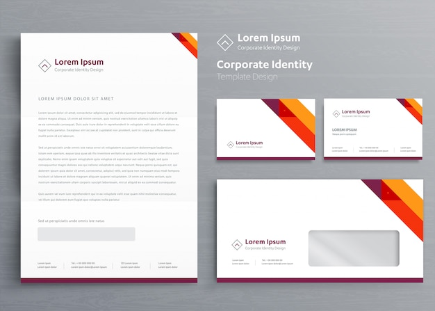Classic stationery business corporate identity template