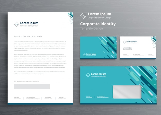 Classic stationery business corporate identity template,